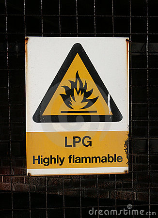 Sign, LPG Highly Inflammable