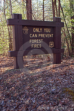 Sign in National Forest Smokey the Bear says... Editorial Stock Image