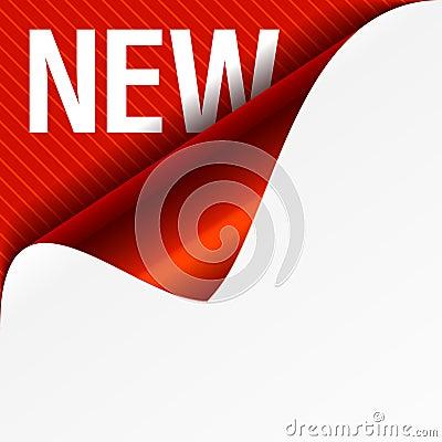 Sign New - curled corner
