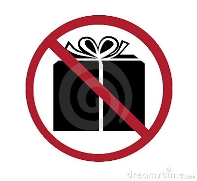 Sign - no gifts