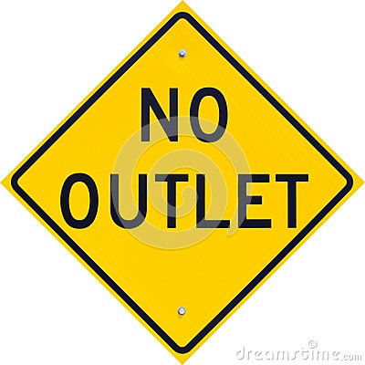 Sign No Outlet