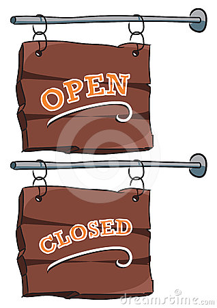 Sign: Open/closed