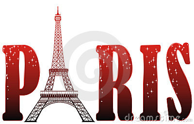Sign Paris with eiffel tower