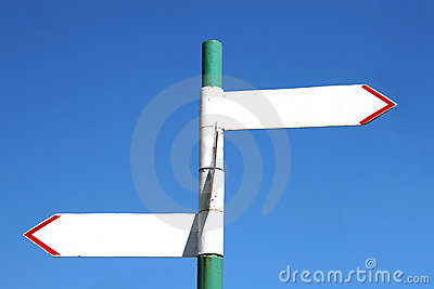 Sign post with two arrows