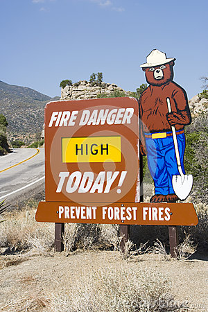 Sign Of Preventing Forest From Fire Editorial Stock Photo