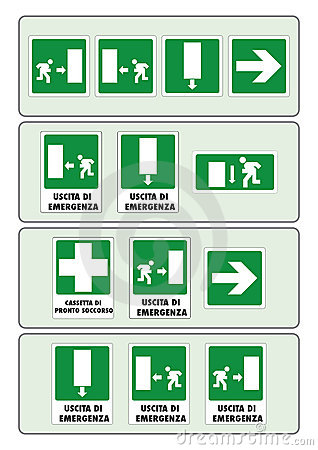 Sign Of The Prevention For Work In The Italian Leg