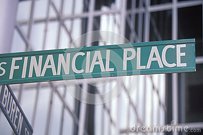 A sign that reads Financial Place