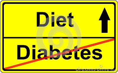 Sign/Roadsign Diabetes/Diet/ Prevention