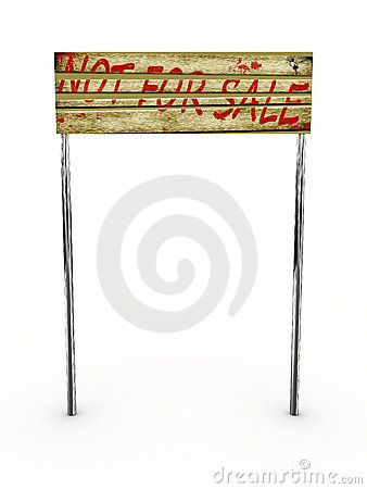 Sign for sale isolated on white background