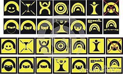 Sign set - symbols
