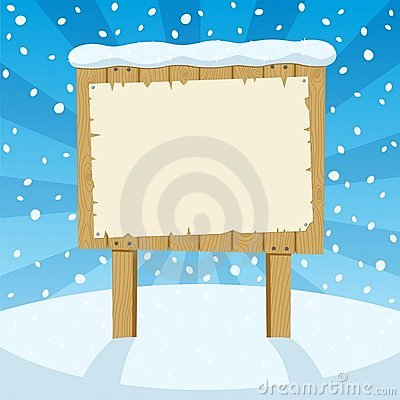 Free Sign & Snow Royalty Free Stock Photo - 16159905
