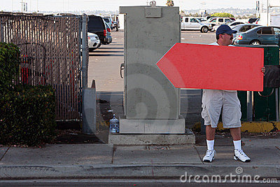 Sign Spinner - Red Sign - traffic