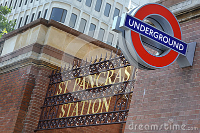 Sign for St Pancras Station Editorial Image