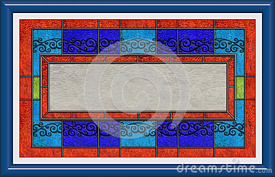 Sign In Stained Glass And Frame Royalty Free Stock Photo - Image: 26575255