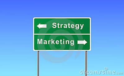 Sign strategy marketing.