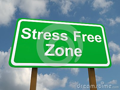 Sign for stress free zone