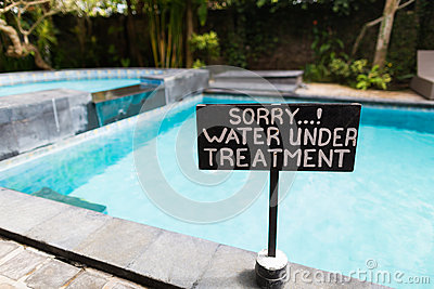 A Sign Beside Swimming Pool Stock Photo Image 46547657