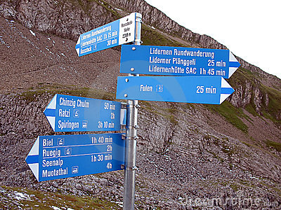 Sign in the swiss Alps, Switzerland