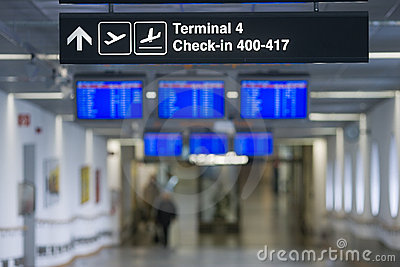 Sign - Terminal, Check In