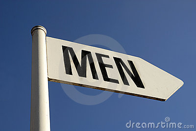 Sign with text MEN