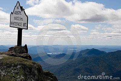 Sign on top of mountain