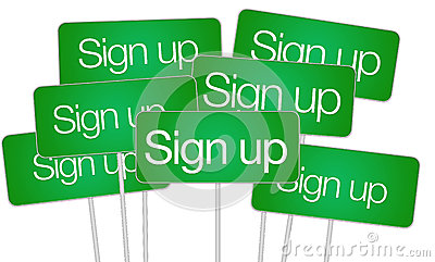 Sign up buttons