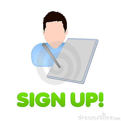 Sign up register icon design