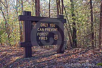 Sign warning Only You Can Prevent Forest Fires Editorial Photo