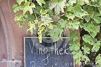 Sign wine bar