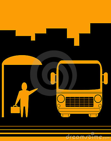 Free Sign With Image Bus Stop Stock Photo - 22821710