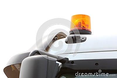 Signaallamp voor waarschuwings opvlammend licht op voertuig