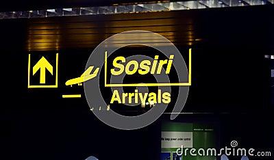 Signage in Airport