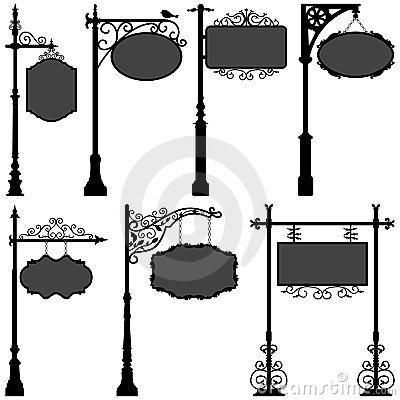 Free Signage Sign Pole Frame Street Royalty Free Stock Photography - 19293037
