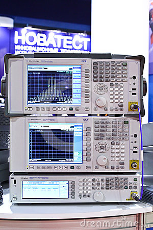 Signal analyzer Editorial Stock Image