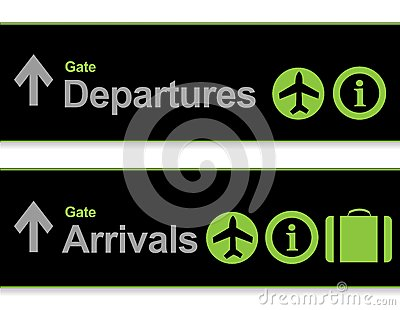 Signal arrival - departures from the airport