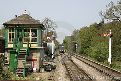 Signal box and train tracks
