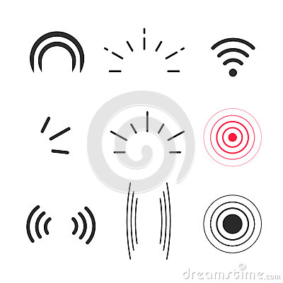 Free Signal Icons Vector, Radio Signals Waves And Light Rays Symbols Royalty Free Stock Photo - 83857455