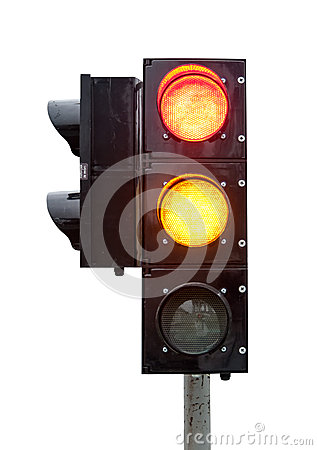 signal of the traffic light in isolation