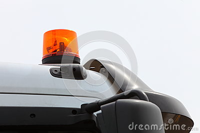 Signallampe für warnendes Blinklicht auf Fahrzeug