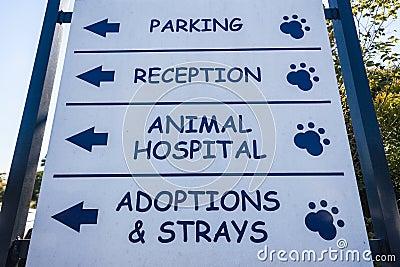 Signboard Animal Hospital Veterinary  Editorial Photo