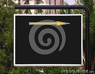 Signboard arrow