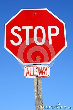 Signe d arrêt - toute la voie
