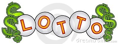 Signe de billes de loterie d argent comptant de loto
