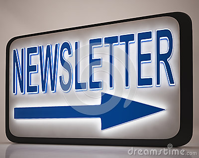 Signe de bulletin d information affichant des courrier de nouvelles
