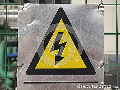 Signe de danger de l 39 lectricit photo libre de droits for Dangers de l electricite