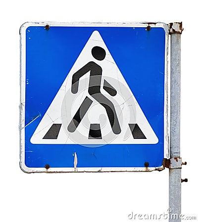Signe de passage piéton