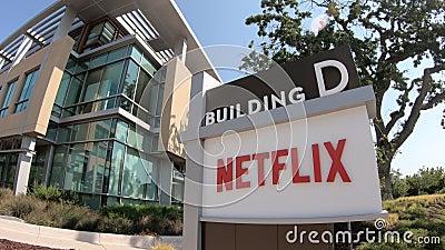 Signe de QG de Netflix banque de vidéos