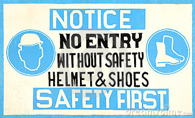 Signe de sécurité fabriqué à la main