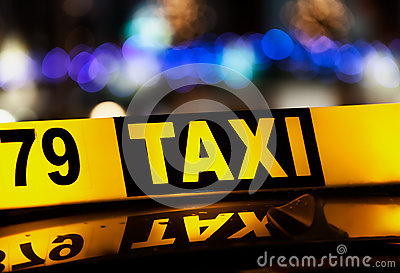 Signe de taxi