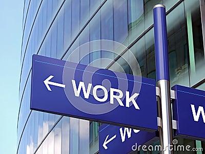 Signe de travail